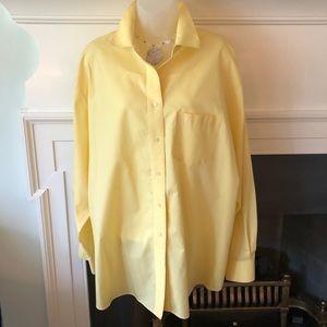 Foxcroft Wrinkle-Free Tunic Springtime Yellow 22W